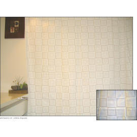 Polyester Shower Curtain - White Square (Полиэстер Shower Curtain - White Square)