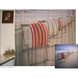 Polyester Shower Curtain - Deckchair (Полиэстер Shower Curtain - Deckchair)