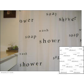 Polyester Shower Curtain - Words (Полиэстер Shower Curtain - Слова)