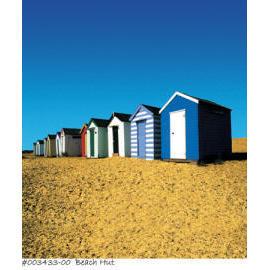 Polyester Shower Curtain - Beach Hut (Полиэстер Shower Curtain - Пляж Хат)
