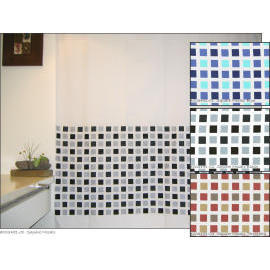 Polyester Shower Curtain - Square Mosaic (Полиэстер Shower Curtain - Квадратный мозаика)