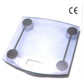Glass electronic bathoom scale (Стекло электронные весы bathoom)