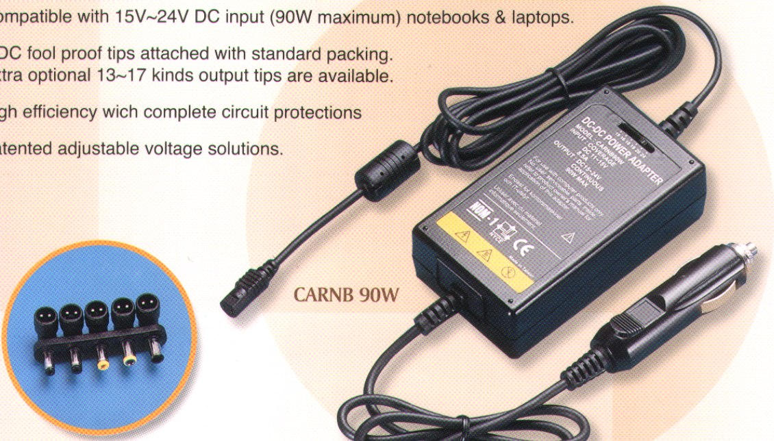 DC-DC CAR USE Power supply for Notebook & laptops (DC-DC CAR USE Power supply for Notebook & laptops)