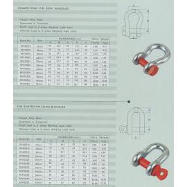 shackle, eye bolt, marine hardware, tow hook, marine hardware, rigging hardware,