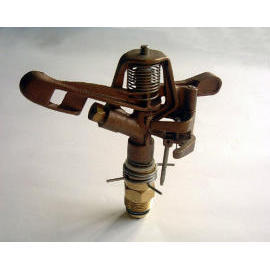 Brass adjustable impact sprinkler