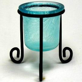 Candle Holder With Iron Wire Stand