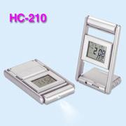Thermo. calendar alarm clock with FM scan radio+mini LED torch (Thermo. Календарь будильник с FM сканирования радио + мини светодиодный фонарик)