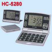 Thermometer world time calendar calculator, 8 digit