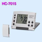 Thermometer calendar alarm clock,aluminum cover with magnet for closing (Термометр календарь будильник, алюминиевые крышки с магнитом для закрытия)