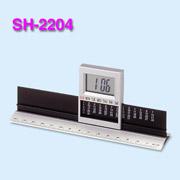 Digital alarm clock with calendar + Aluminum ruler (Цифровой будильник с календарем + алюминий правитель)