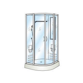 Tempered Straight Glass for Shower Door