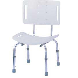 HYGIENIC SHOWER BENCH WITH BACK
