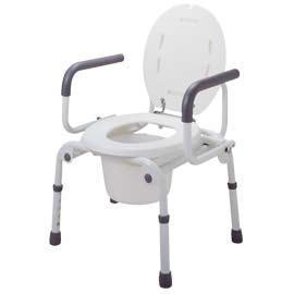 PUSH BOTTOM DROP-ARM COMMODE (Appuyez sur le bas DROP-ARM COMMODE)