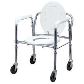 PORTABLE STEEL FOLDING COMMODE