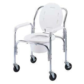 PORTABLE HIGH BACK COMMODE (PORTABLE HAUT RETOUR COMMODE)