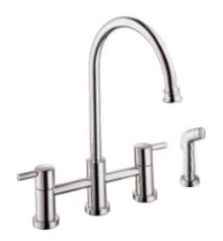 KITCHEN FAUCET W/HOSE SPRAY