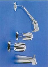 TWO HANDLES SHOWER VALVE W/TUB SPOUT (Две ручки душа КЛАПАН Вт / TUB SPOUT)