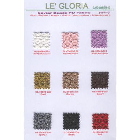 Caviar Beads & Glitter PU Leathers