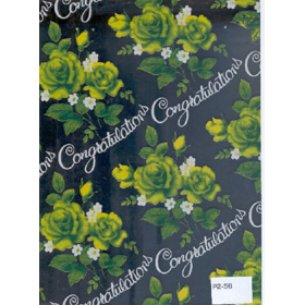 Gifts Wraping Paper Green Rose Silver background
