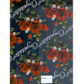 Gifts Wraping Paper Orange Rose with Silver background