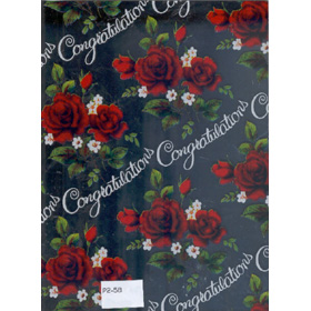 Gifts Wraping Paper Red rose with sliver background