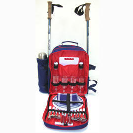 PICNIC BACKPACK W/TREKKING POLE