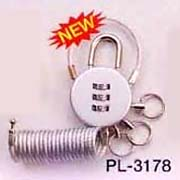Luggage Tag with Combination Padlock
