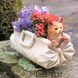 CAT IN A BAG PLANTER