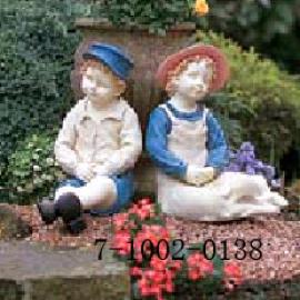 SITTING BOY AND GIRL