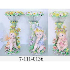POL YRESIN FLOWER FAIRY W/SOLAR LIGHT