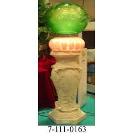 12V ROMAN COLUMN GARDEN FIBER LIGHT ,W/10M CORD