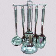 5-Piece Cooking Utensil Set with Suction-Mount Holder