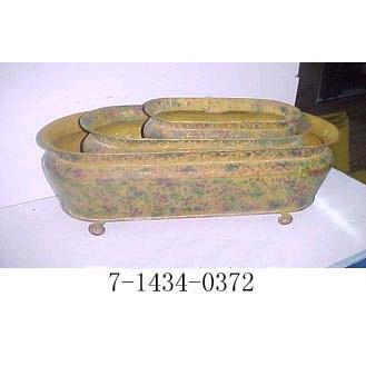 SET 0F 3 METAL PLANTERS (SET 0F 3 металлических горшки)