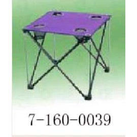 FOLDABLE CAMPING TABLE WITH 4-CUP HOLDER