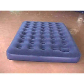 DOUBLE SIZE FLOCKED AIRBED WITH BUILT-IN PUMP INFLATO