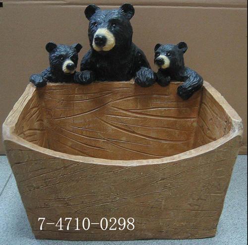 "THREE BEARS WITH PLANTER (""Три медведя"" С PLANTER)"
