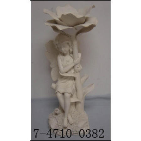 POLY FAIRY WITH CANDLE HOLDER