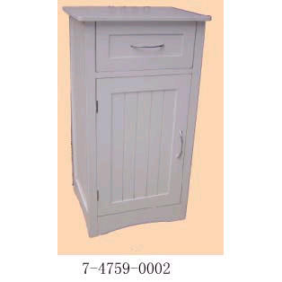 WHITE SIDE CABINET WITH DRAW