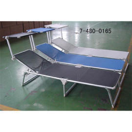 FOLDABLE CAMPING BED WITHOUT ADUMBRAL PARTS