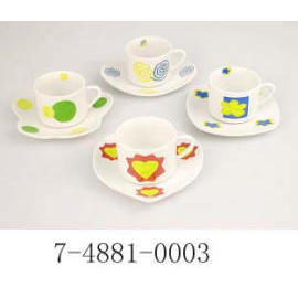 90 CC CUP&SUCER,PORCELAIN WITH DECAL (90 CC & CUP SUCER, Фарфор DECAL)