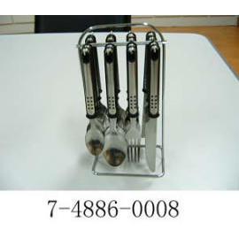 16PC BISTRO CUTLERY SET WITH STAND