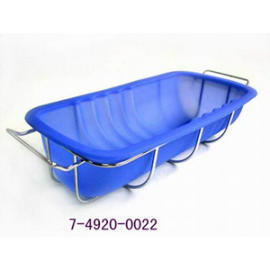 SILICONE BAKEWARE LOAF PAN WITH RACK 235G