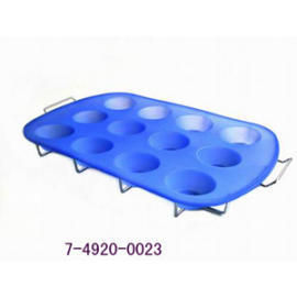 SILICONE BAKEWARE - 12 CUP MUFFIN PAN WITH RACK 450G (SILICONE Формы для выпечки - 12 CUP MUFFIN ПАН с полками 450G)