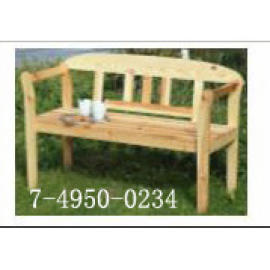 BENCH PINE WOOD 2 PERSONS (BANC PIN BOIS 2 PERSONNES)
