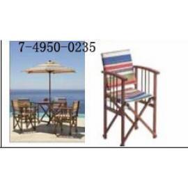 4 INSTUCTOR CHAIRS AND FOLDABLE TABLE UMBRELLA (4 INSTUCTOR СТУЛЬЯ складывающиеся ТАБЛИЦА ЗОНТ)