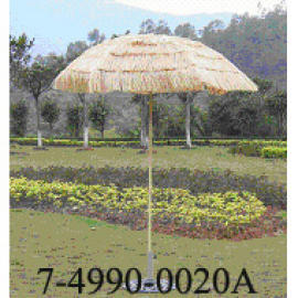 36``X6 RIBS STRAW UMBRELLA
