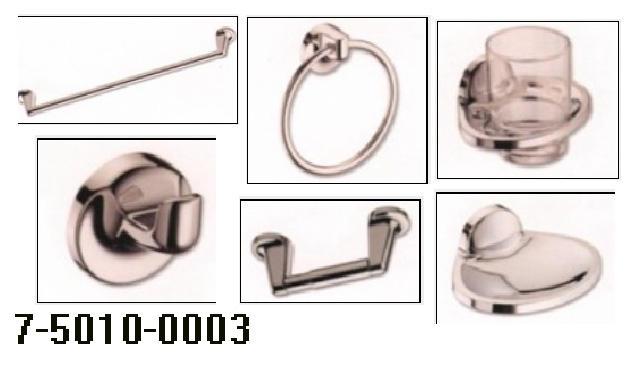 6PCS BATHROOM ACCESSORIES ABS W/IVORY FINISH (6PCS ВАННЫЕ ПРИНАДЛЕЖНОСТИ ABS W / слоновая кость FINISH)