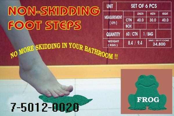 SHOWER NON-SLIP MAT (FROG DESIGN), SET OF 6 (Душ NON-SLIP MAT (Frog Design), набор из 6)