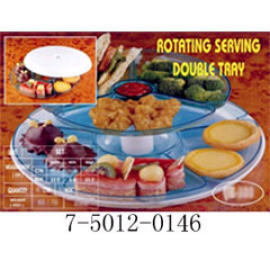 TOTATING SERVING DOUBLE TRAY (TOTATING ВЫСТУПАЮЩАЯ DOUBLE TRAY)