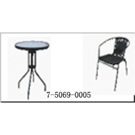 TABLE WITH GLASS TOP AND 2 CHAIRS (СТОЛ С стеклом и 2 стула)